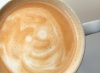Smiley face in coffee