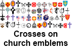 Selection of crosses on church emblems