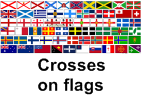 Selection of crosses on flags