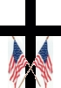 Crossed Flags; for proud, patriotic Christians