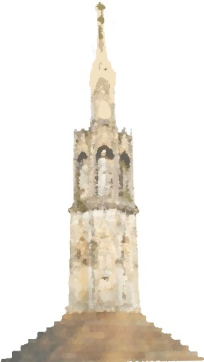 Artists impression of the Woburn Cross