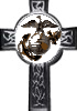 Eagle shown on the Marine Corps veterans' cross