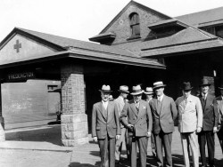 Fredericton station in 1935. Provincial Archives New Brunswick Harvey Studio Photograph