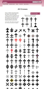 A cross reference of all the crosses featured on www.seiyaku.com