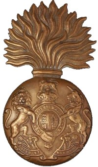 Royal Scots Fusiliers<br>a fused grenade bearing the Royal Arms