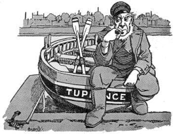 Old Ted, the boatman