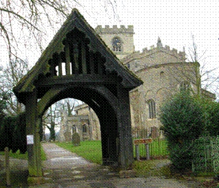 Lychgate at All Saints' Church, Wing, Buckinghamshire, England