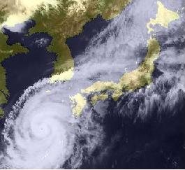 Typhoon No.18 (Songda) August 2004